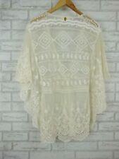 Mahlii Top Sz XS, 8 White, cream Lace V-neck Kaftan style hippie boho
