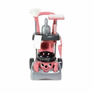 Pre School Kids Hetty Deluxe Cleaning Trolley Vacuum Cleaner Hoover Set New Pink