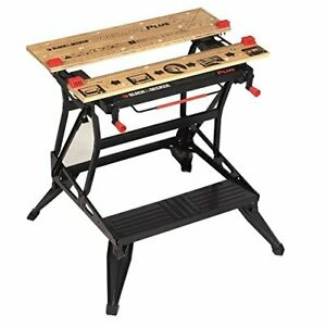 BLACK+DECKER Workmate Plus, Work Bench Tool Stand Saw Horse , Dual Height with