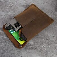 Handmade EDC Organizer Leather Sheath/ Organizer Slip Pouch Case for Flashl E6R1