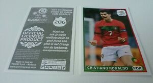 Panini Euro 2012 CRISTIANO RONALDO Dutch version Sticker #206 Rare Mint