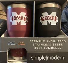 Mississippi State simple modern Premium Insulated tumbler 30oz.