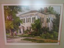 original vintage Watercolor Painting by Lowell Ellsworth Smith signed and framed