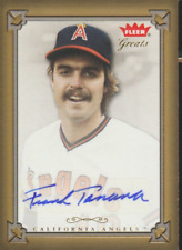 Frank Tanana 2004 Fleer Greats autograph auto card GBA-FT