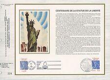 FEUILLET CEF / DOCUMENT PHILATELIQUE CENTENAIRE DE LA STATUE DE LA LIBERTE 1986