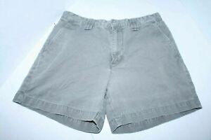 """Calvin Klein Jeans - Womens Weathered Gray Khaki Shorts Size 8 - 100% Cotton 5"""""""