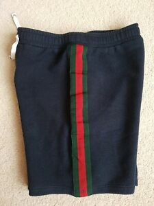 Gucci Wide Leg 100% cotton shorts Navy 10 years old