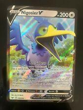 🔴🔵 Carte Pokemon: NIGOSIER V  155/202 ULTRA RARE Epee et Bouclier FR NEUF