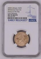 2020 Great Britain Withdrawal from EU SOTD NGC MS70 Matte Early Release + COA