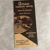 Vintage Travel Brochure Florida Treasure Island Arrow Cabana Motel 1950s FL