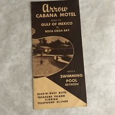 Vintage Travel Brochure Florida Treasure Island Arrow Cabana Motel 1950s FL