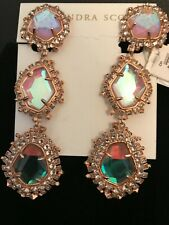 Kendra Scott Aria 14k Rose Gold Plated Clip on Drop Earring