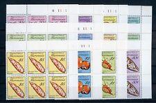 MIKRONESIEN Nr.142-153A ** ECKRAND-6er-Bl. MEERESSCHNECKEN !!! (129569)