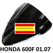 HONDA CBR 600F 2001-2007 CUPULA NEGRA Windshield doble burbuja F4 600