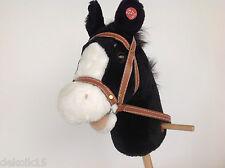 freundl. Steckenpferd Laufpferd Sound 95cm stabil Pferd Hüh Kinder schwarz 50763