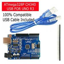 NEW Arduino UNO R3 ATMEGA328P CH340G Microcontroller Board Bootloader + USB
