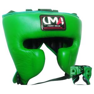 UMA R-9 Youth Fight Sports Cheek Protection Boxing Headgear MMA Kick Muay Aqua