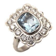 Aquamarine & Diamond Ring 18ct Gold Exclusive RRP £3750.00
