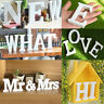 26 Large Wooden Letters Alphabets Wall Hanging Wedding Party Home DIY Decoration