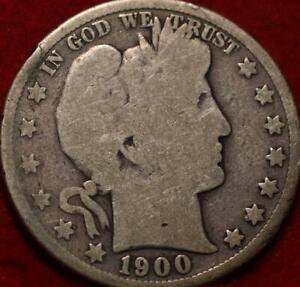 1900-S San Francisco Mint Silver Barber Half Dollar