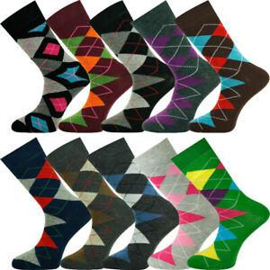 Mysocks Ankle Socks Argyle Combed Cotton Size 7-11