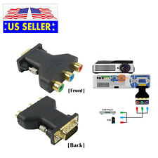 3 RCA RGB Female To HD 15-Pin VGA Style Component Video Adapter Conventer Plug