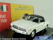 FIAT 1500 MODEL CAR 1:43 SCALE WHITE CABRIOLET ATLAS NOREV CLASSIC SPORTS K8