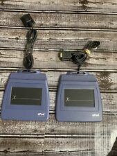 2 Epad Interlink Signature Pads Blue No Stylus Serial Connection Untested