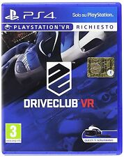 DriveClub VR  playstation 4  PS4   NUOVO
