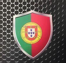"Portugal Shield Flag Proud Domed Decal Emblem Car Sticker 3D 2.3""x 3"" RONALDO"