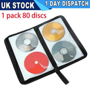 80 Disc CD VCD DVD Carry Bag Car Storage Holder Case Wallet Organizer Folder UK