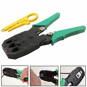 RJ45 Cat5e Cat6 Cat7 Network Ethernet Cable Crimping Crimp Cutter Stripper Tool