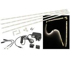 Fluxia 156.792 4 X 300mm Blanco Frío Kit de cintas 5000K 78 LED con tiras de la esquina nuevo