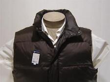 Daniel Cremieux Mens 80% Down Vest Polo Zip Quilt Fill Brown Jacket Puffy M $150