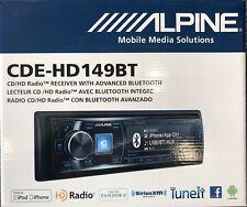 New listing Alpine Cde-Hd149Bt Car Cd/Hd Radio Receiver with Advanced Bluetooth Cdehd149Bt