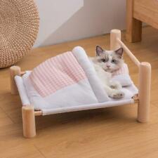 Pet Cat Bed Removable Sleeping Bag Hammock Beds Lounge Wooden Cat Hamster Rabbit