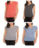 SALE Hilary Radley Womens V-Neck Short Sleeve Blouse, VARIETY OF SIZE AND COLC13