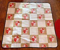 """Vintage San Francisco 49ers NFL Football Picnic Blanket Foil 56""""x56"""" 1960-1970's"""