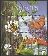 St Vincent Papillons Abeille Araignee Butterflies Spider Bees Bienen ** 2001 15€
