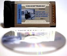 CONCEPTRONIC CDUOFWUC (C05-063) Tarjeta CardBus con puertos FireWire y USB 2.0