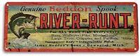 River Runt Lure Fishing Fish Bait Marina Rustic Fish Metal Decor Metal Sign