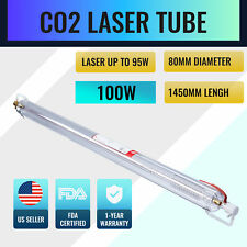 100w Co2 Laser Tube 1450mm 80mm For Engraving Amp Cutting Machines Water Cool Gfs