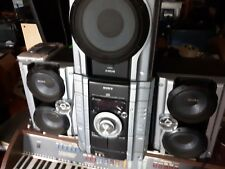 Sony Hi-Fi Stereo Speaker System MHC-GX450 3 CD Dual Cassette AM FM Game Sync