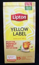 Lipton Yellow Label Enveloped Tea Bags 25 Supplied    Free UK Delivery (060)