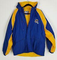 Vintage 90s NFL Los Angeles / St Louis Rams Logo Athletic Puffer Jacket sz M