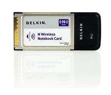 Belkin N Wireless Notebook Laptop Network Internet Card CardBus PC Adapter