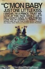The Frog Prince 23x35 Just One Little Kiss Poster 1992