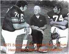 "Dan Yochum Autographed 1971 Syracuse Co-Captain 8"" x 10"" Photo w/COA Cert."