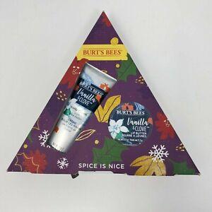 Burt's Bees Hand Cream Lip Butter Gift Set Vanilla Clove Spice Is Nice