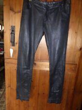Sara Berman Softest Black  Leather Skinny Trousers Sz M